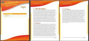 Texte mod le de cours en couleurs - Numerotation des pages sur open office ...