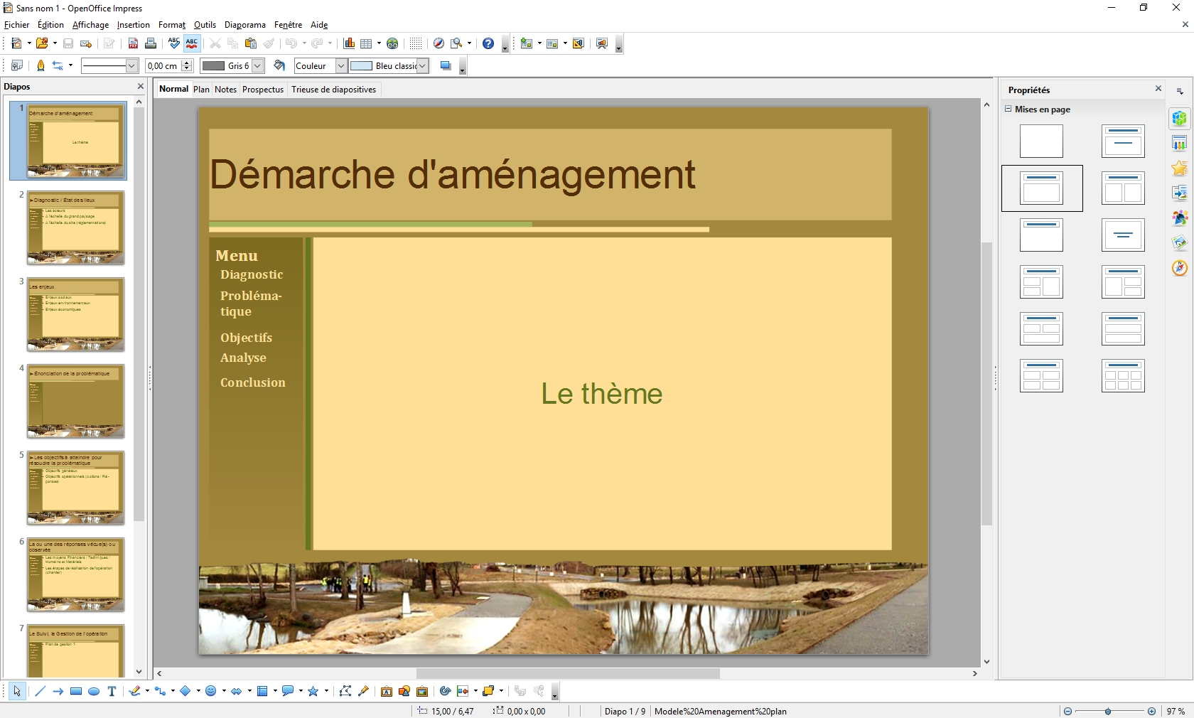 Diaporama open office stav - Comment faire une brochure sur open office ...