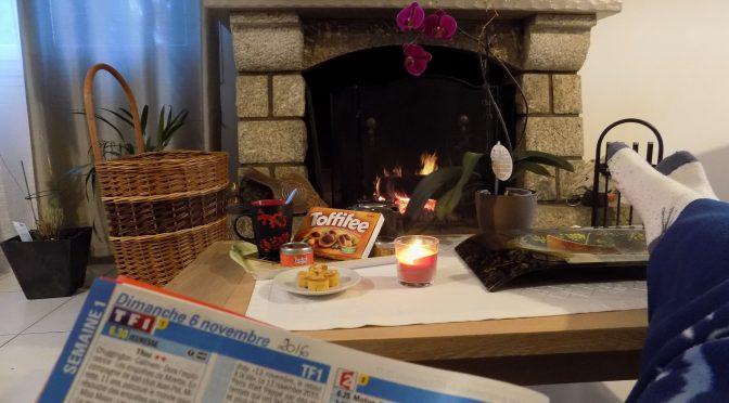 «Un moment de bonheur au pied d'un feu de cheminée»
