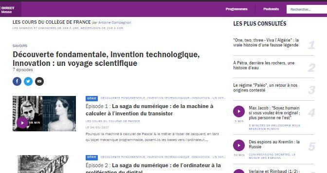 Découverte fondamentale – le collège de France